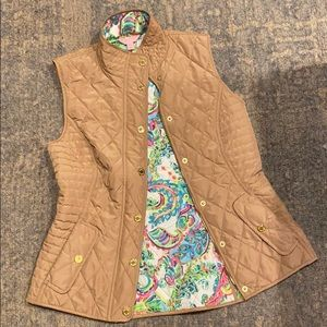 Lilly Pulitzer Blake Quilted Vest - like new